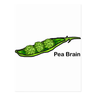Pea Brain Postcard