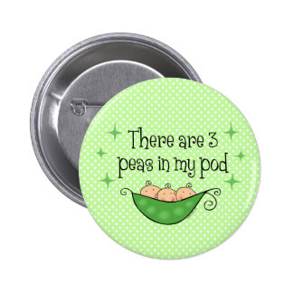 Pea in My Pod Triplets Buttons