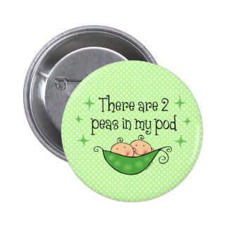 Pea in My Pod Twins 2 Inch Round Button