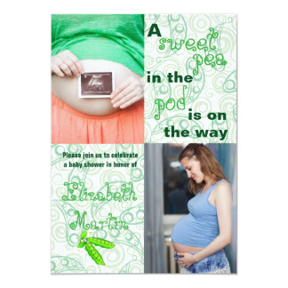 Pea in the Pod 2 Photos - Baby Shower Invitation