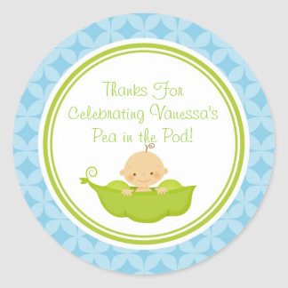 Pea in the Pod Baby Shower Custom Favor Stickers