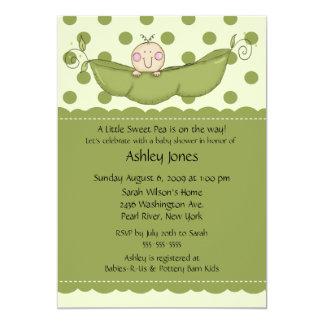 "Pea Pod Baby Baby Shower Invitations 5"" X 7"" Invitation Card"