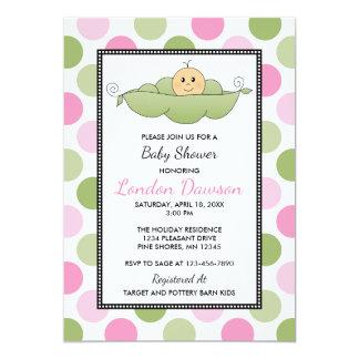 Pea Pod Girl Baby Shower Invitations │ Light Skin