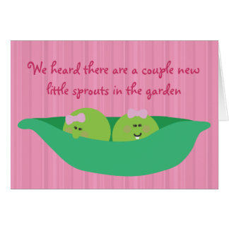 Pea Pod Pals New Baby Girls Congratulations Card