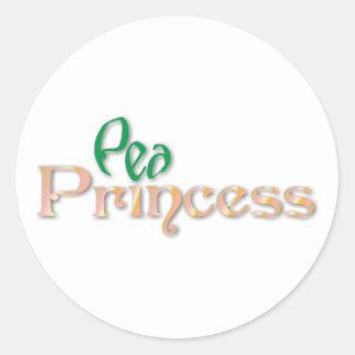 pea princess classic round sticker