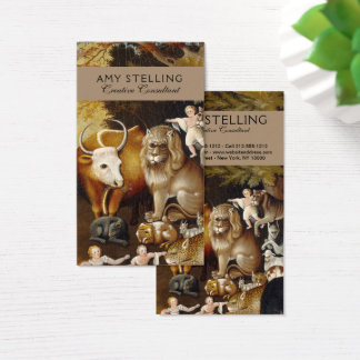 Peacable Kingdom Fine Art Painting Print Painting Business Card