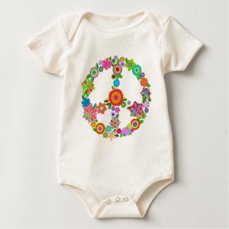 peace10 baby bodysuit