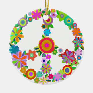 peace10 ceramic ornament