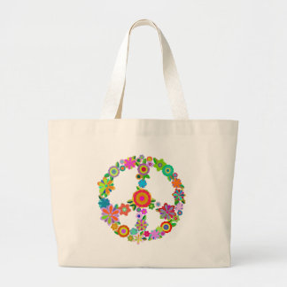 peace10 large tote bag
