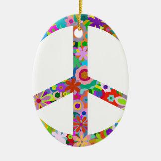 peace11 ceramic ornament