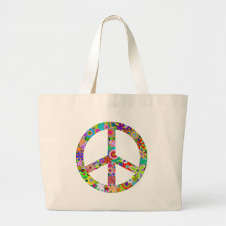 peace11 large tote bag