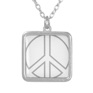peace13 silver plated necklace