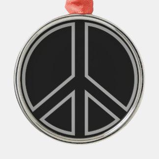 peace17 metal ornament