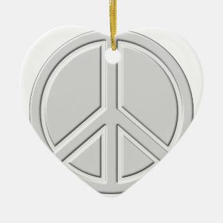 peace18 ceramic ornament