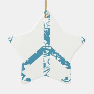 peace23 ceramic ornament