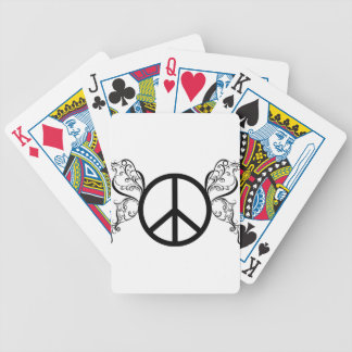 peace2 bicycle playing cards