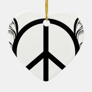 peace2 ceramic ornament