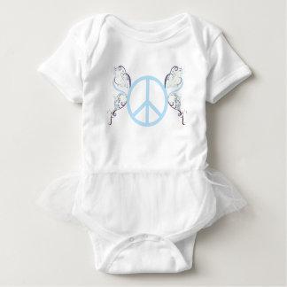 peace3 baby bodysuit