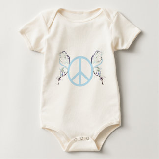 peace3 baby bodysuit