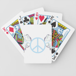 peace3 bicycle playing cards