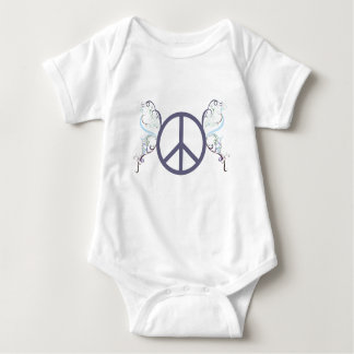 peace4 baby bodysuit