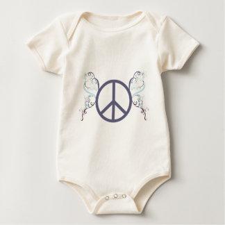 peace4 baby bodysuit
