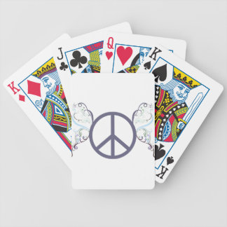 peace4 bicycle playing cards