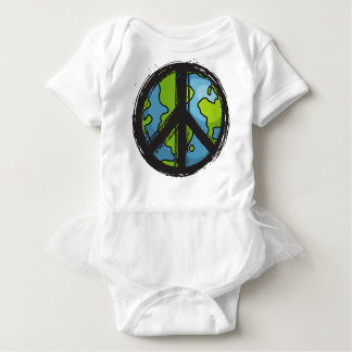 peace5 baby bodysuit