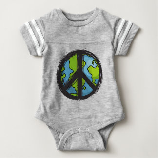 peace5 baby bodysuit