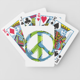 peace6 bicycle playing cards