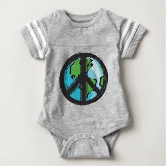 peace7 baby bodysuit