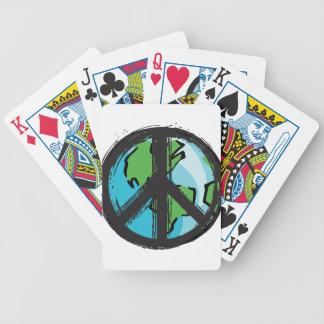 peace7 bicycle playing cards