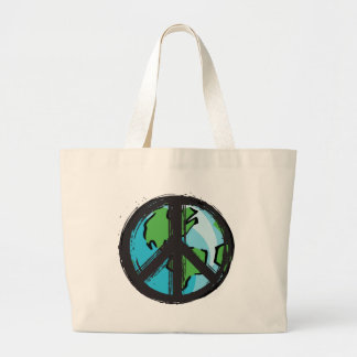 peace7 large tote bag