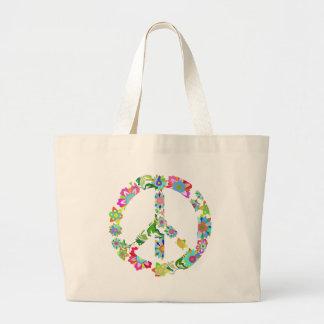peace9 large tote bag