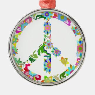 peace9 metal ornament