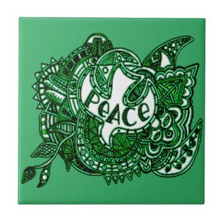 Peace 1 ceramic tile