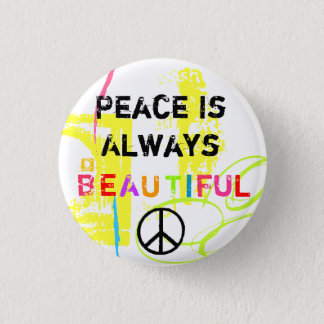Peace 1 Inch Round Button