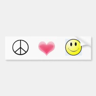 peace%20symbol, Hearts, smiley Bumper Sticker