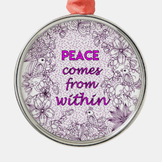 Peace 2 metal ornament