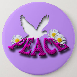 Peace 6 Inch Round Button
