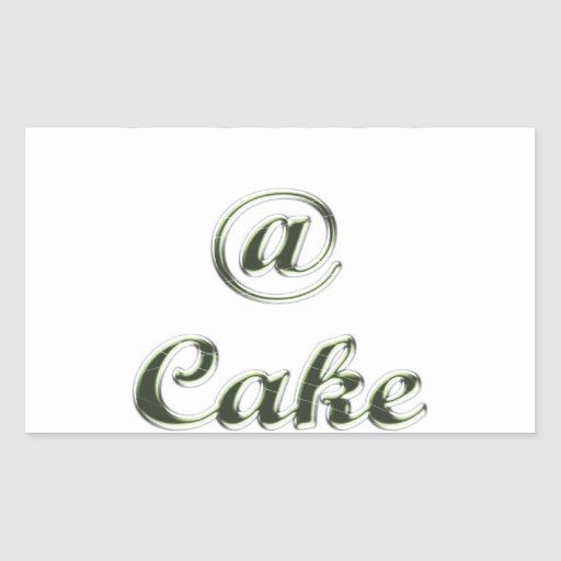 Peace A Cake Embose nice Sticker