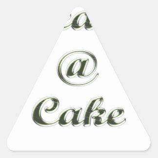 Peace A Cake Embose nice Triangle Sticker