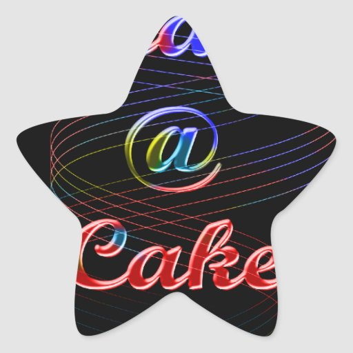 Peace A Cake Emboss nice Black Background Stickers