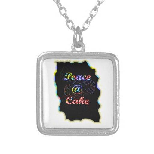 Peace A @ cake Necklace