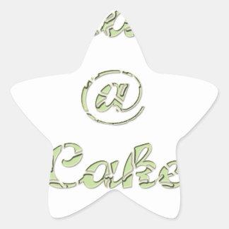 Peace A cake @ Star Sticker
