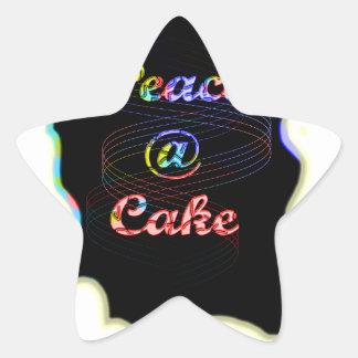 Peace A @ cake Star Sticker