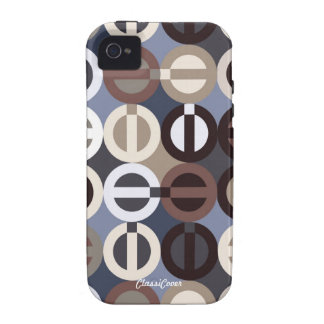 Peace-A-GoGo Blue Brown Case Mate Vibe iPhone 4 Covers