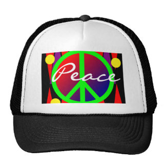 Peace Abstract Art Hat