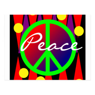 Peace Abstract Art Post Card