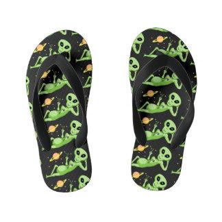 Peace Alien Flip Flops